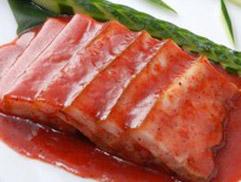 豚角煮の中国真赤老酒の酒糟のソース