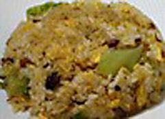 あっさり卵炒飯(麻婆豆腐と共に)